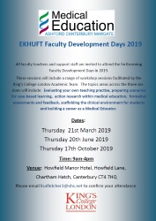 Faculty Development Days 2019
