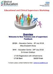 Educational & Clinical Supervisors Workshops - July 2019