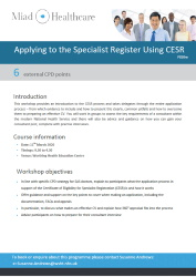 CESR Workshop 11 March 2020
